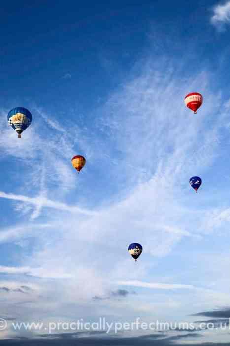 hot air balloons taking off at Bristol Balloon Fiesta 2016