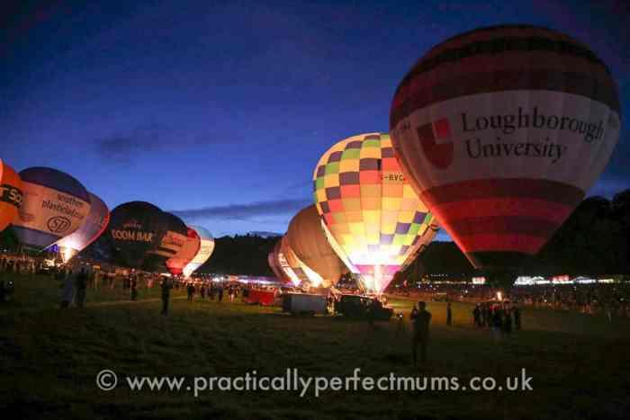 Night Glow at Bristol Balloon Fiesta 2016