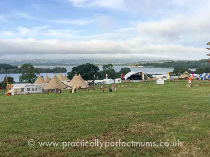 Arena and lake views before opening time - Valley Fest Review 2016