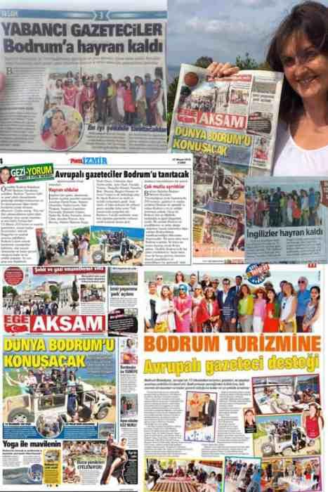 Bodrum trip Turkey press coverage
