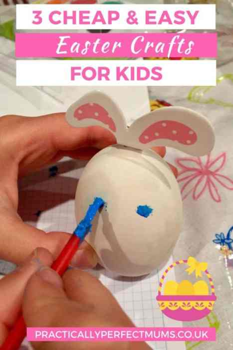 3 cheap & easy Easter crafts for kids