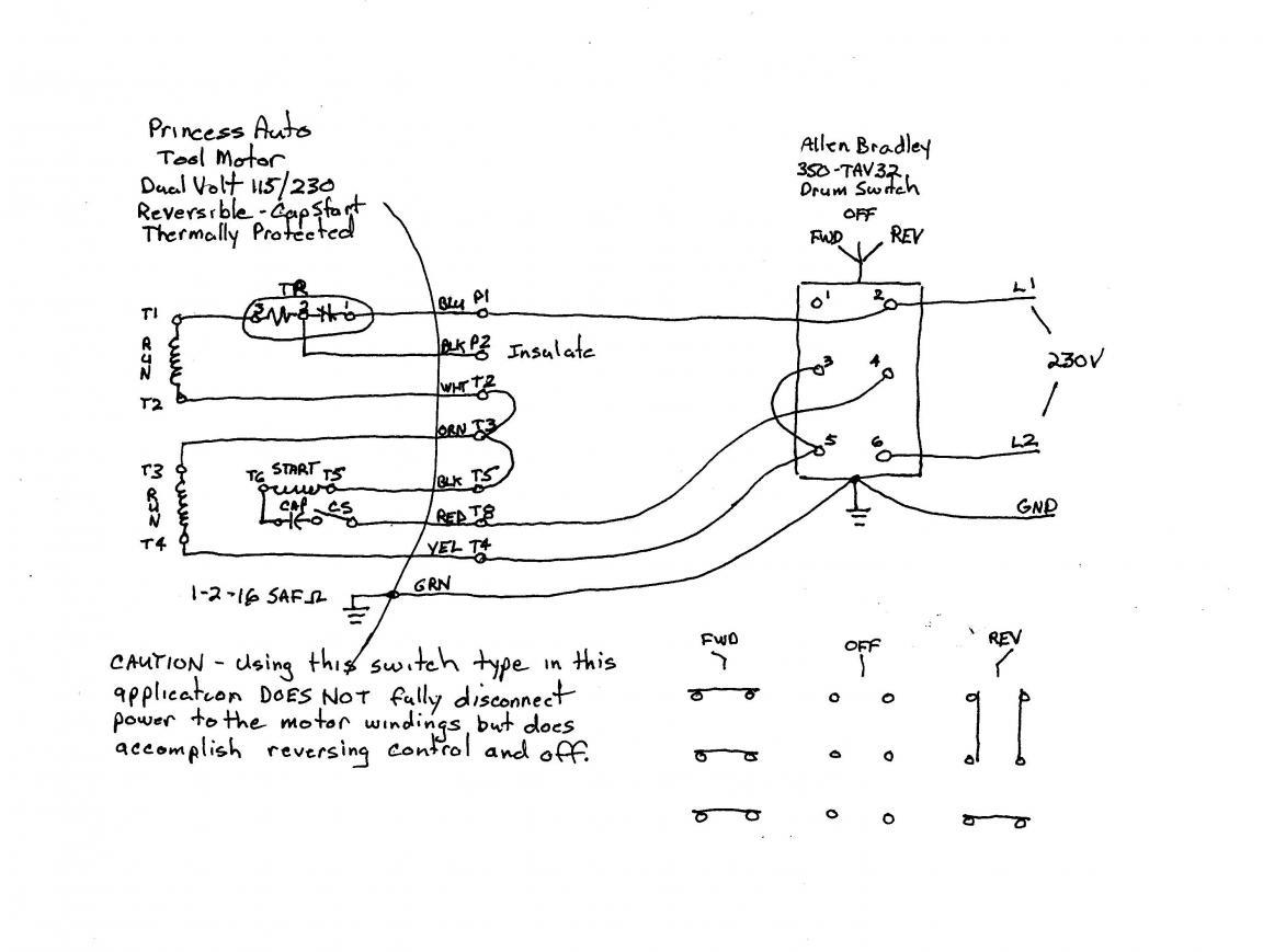 220 Volt Single Phase Motor Wiring Diagram