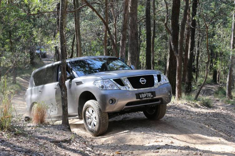 Off-road, the Nissan Patrol is just as capable as it ever was, but it's so big that tight tracks are off-limits.