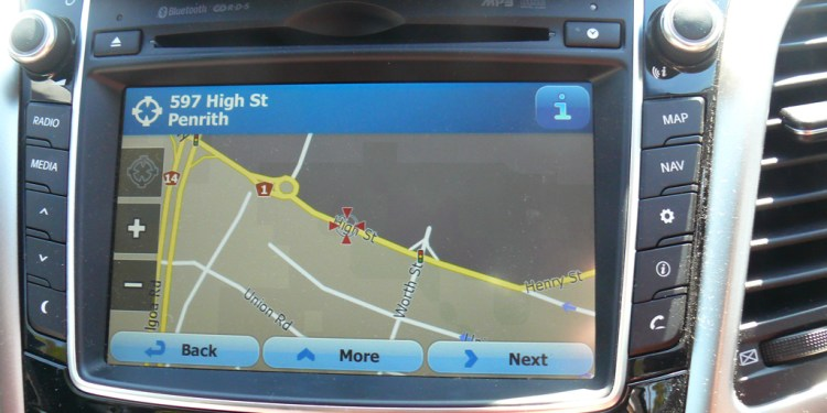 The Hyundai i30 SR's sat-nav is giving us some grief