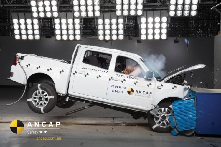 Tata Xenon 4x2 scores 2 star ANCAP rating