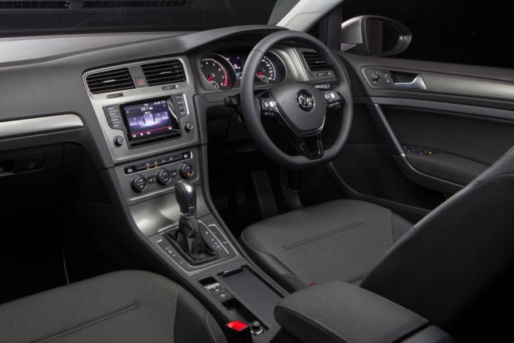 The Volkswagen Golf Wagon offers a typically-VW functional and classy interior.