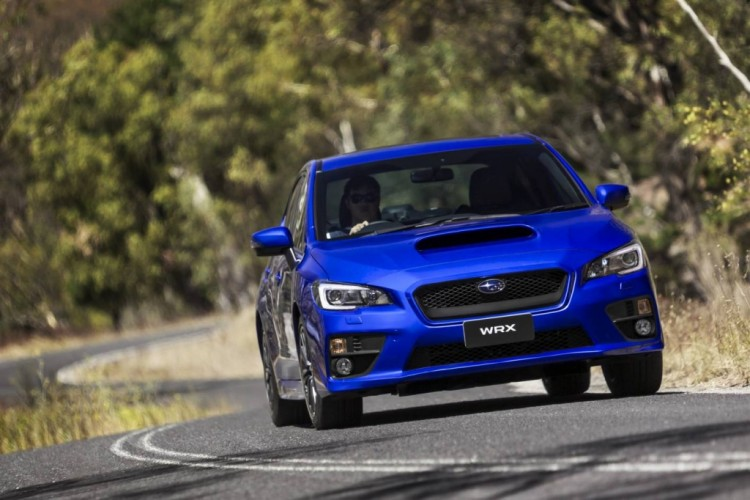 The new Subaru WRX has loads of grip for hard cornering