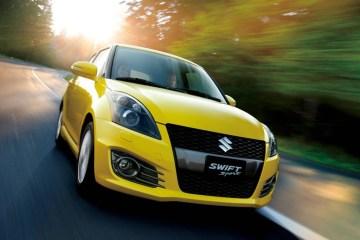 The Suzuki Swift Sport isn't quite as aggressive as the Fiesta ST