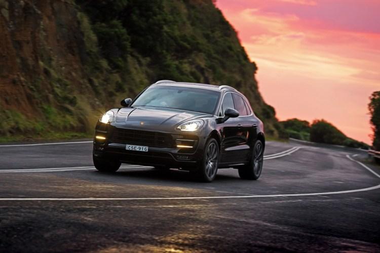 New Porsche Macan Turbo driving