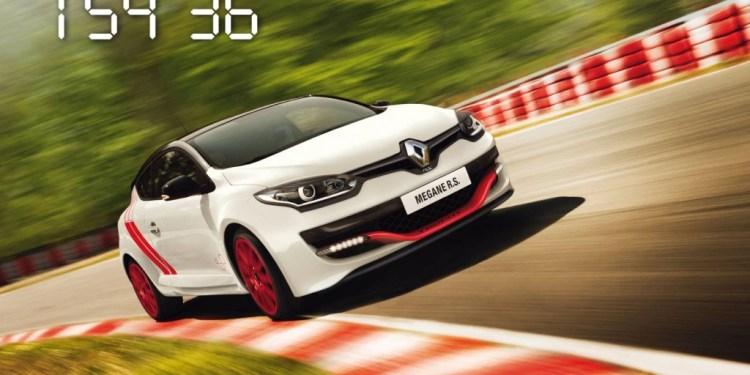 renault megane rs 275 trophy-r breaks lap record