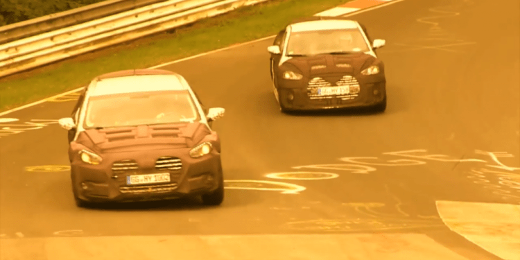 Hyundai i40 and Veloster Turbo caught testing at Nurburgring