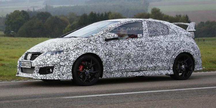 2015 Honda Civic Type R caught testing