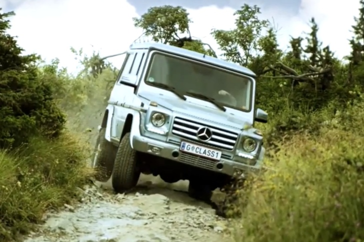 mercedes-benz g-class goes off-road