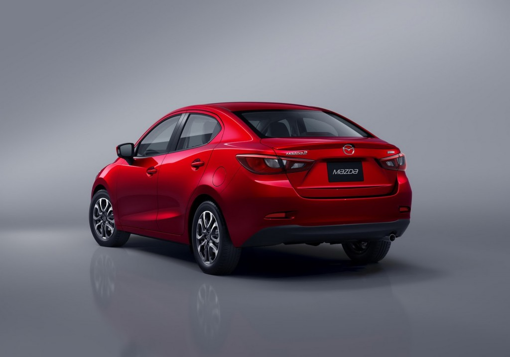 mazda reveals 2015 mazda2 sedan practical motoring. Black Bedroom Furniture Sets. Home Design Ideas