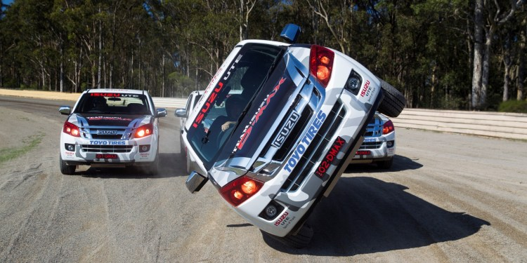Team Isuzu D-Max in action