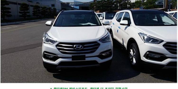 Refreshed 2016 Hyundai Santa Fe spied
