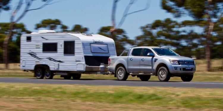 Towing 3500kg caravan ranger