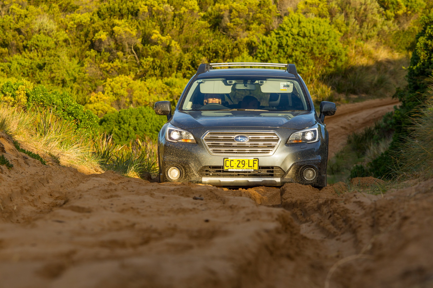 Subaru Outback does it easy on sand.