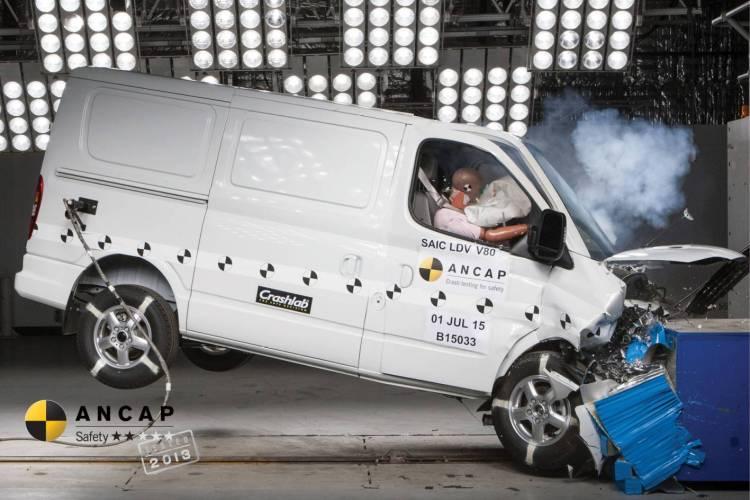 2015 LDV V80 scores 2 star ANCAP rating