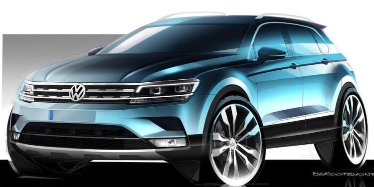 2016 Volkswagen Tiguan teased