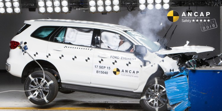 Ford Everest scores 5 Star ANCAP