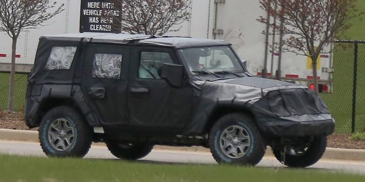 new jeep wrangler spied