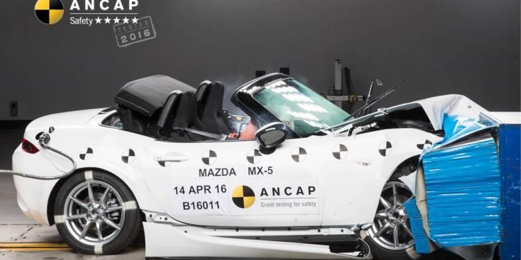 ANCAP Mazda MX-5 pedestrian
