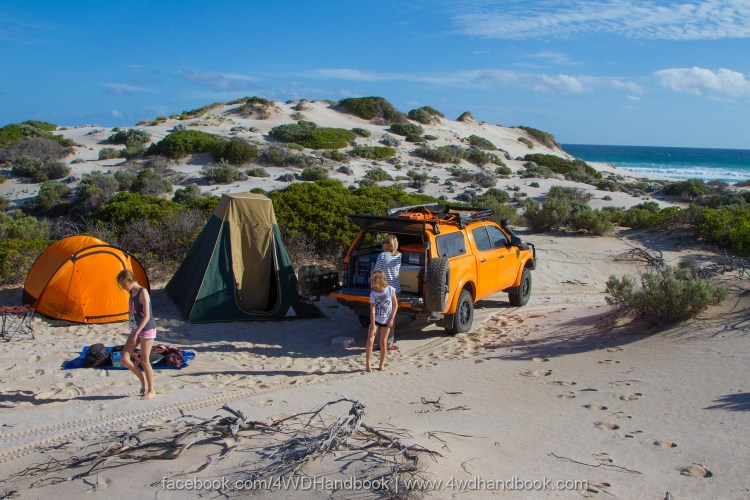 4WD and tent