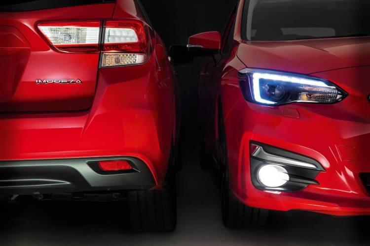 Subaru Impreza front and back