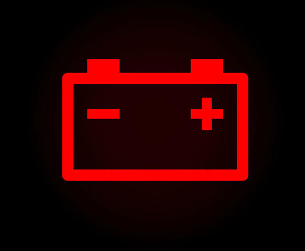 Battery charge warning light
