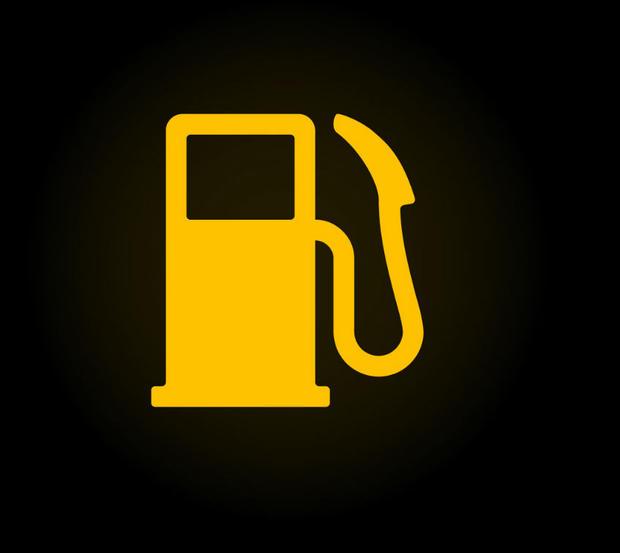Low fuel warning light