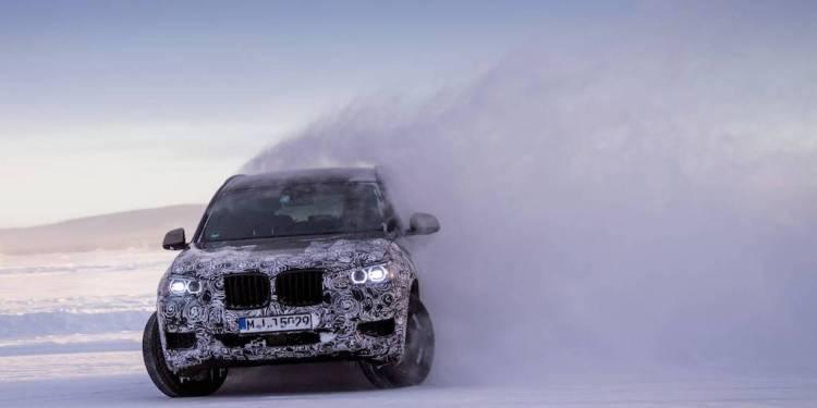 BMW X3 testing in Sweden