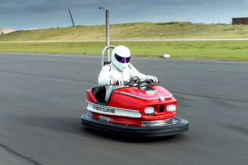 The Stig sets speed record with a dodgem car