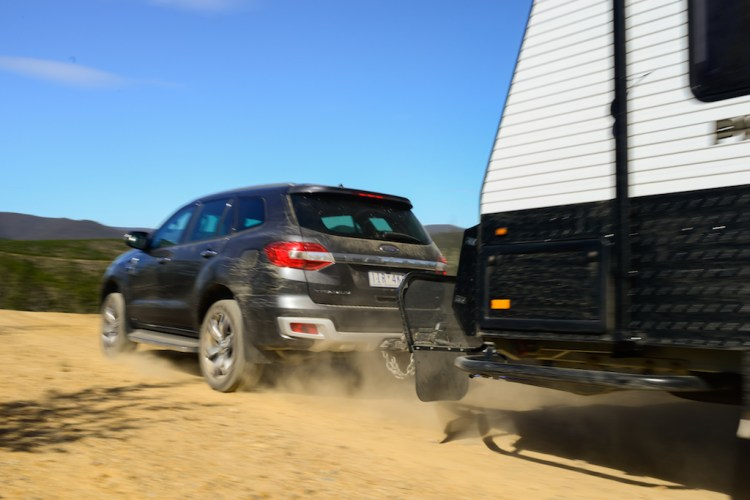 Towing a caravan with a Ford Everest Titanium
