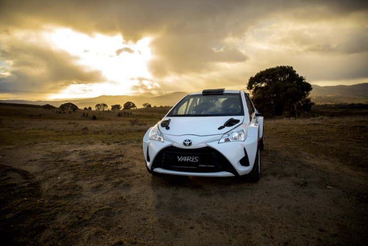Toyota Yaris at the Rally SA