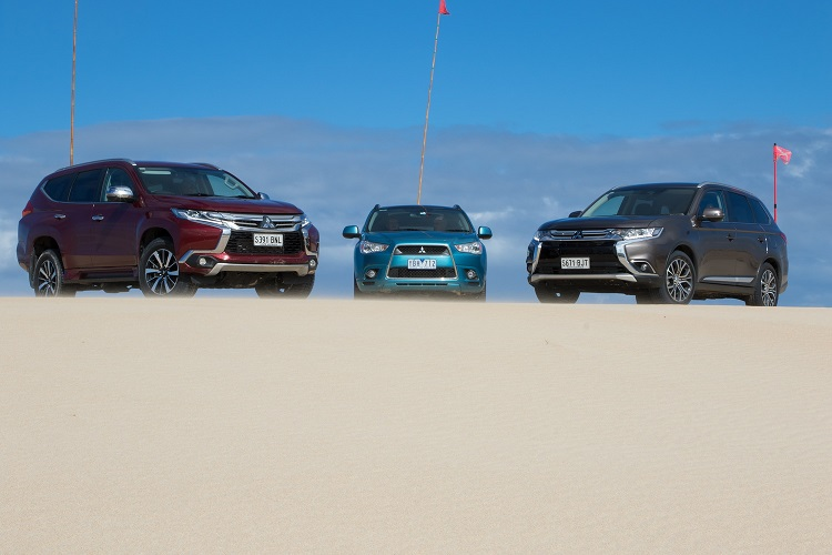 Mitusbishi family on show - Pajero Sport, Outlander and ASX. Photo by Robert Pepper / Practical Motoring.