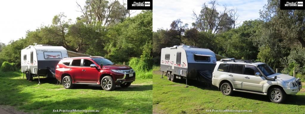 Tow Comparison - Mitsubishi Pajero vs Mitsubishi Pajero Sport