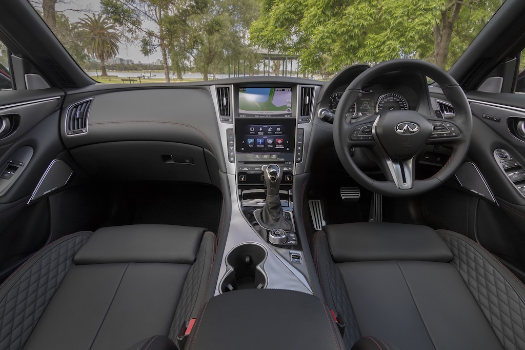 2018 infiniti q50 red sport review practical motoring. Black Bedroom Furniture Sets. Home Design Ideas