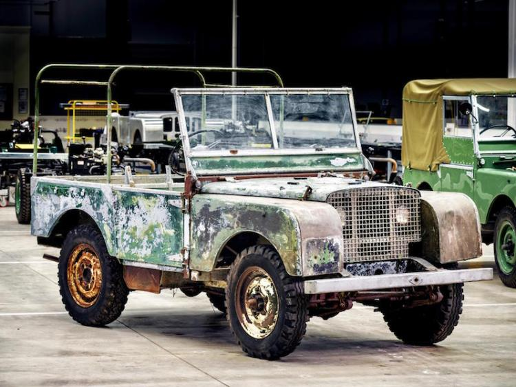 Pre-production land Rover begins restoration