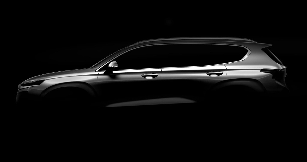 First pic of 2018 Hyundai Santa Fe revealed ahead of Geneva reveal