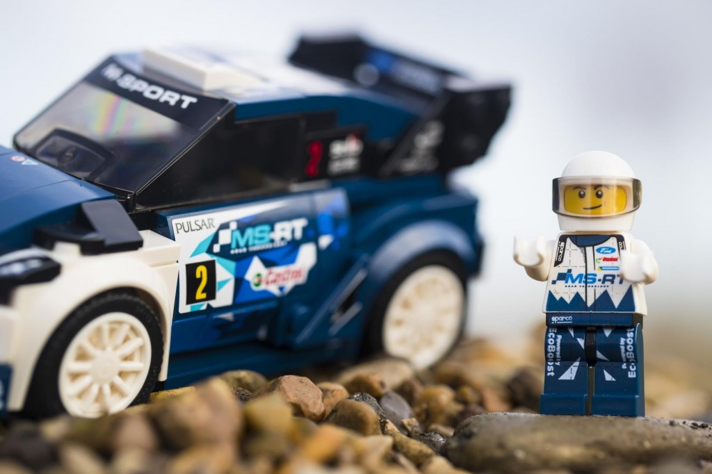 Ford Fiesta rally car made from Lego