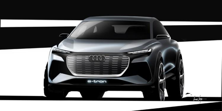 Audi Q4 e-tron concept teased