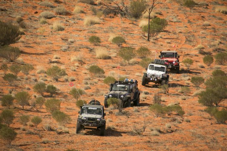 US off-road guru, Chris Collard, has led a recreation of the 1969 Simpson Desert crossing by Ian McDonald who tagged along on the drive as part of the Jeep BFGoodrich East-West traverse of Australia.