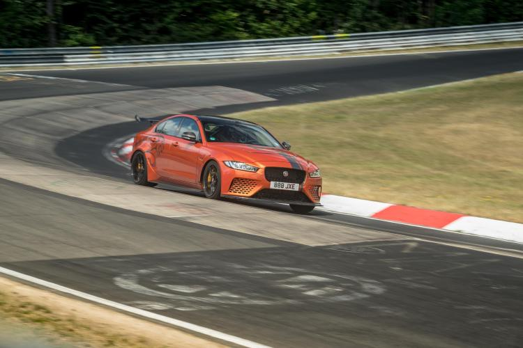 The Jaguar XE SV Project 8 has beaten its own lap record of the Nurburgring to set a new four-door production car record of 7min 18.361sec.