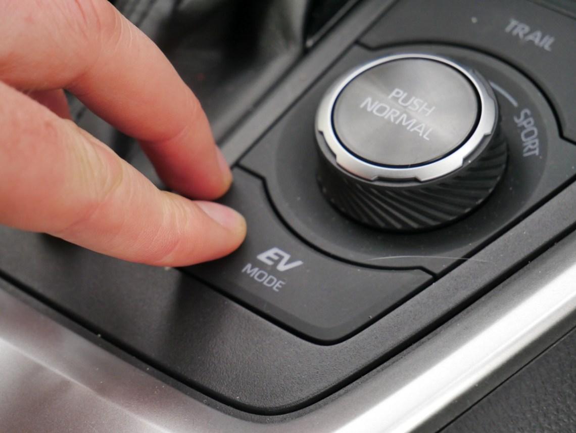 Toyota Rav4 Hybrid ev button