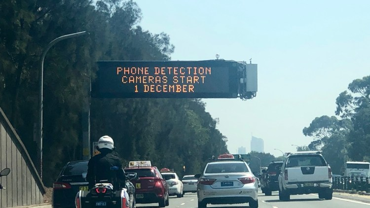 mobile phone detection cameras sign