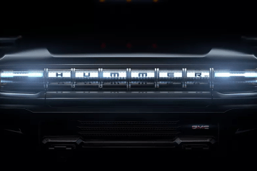 GMC Hummer EV front end face teaser