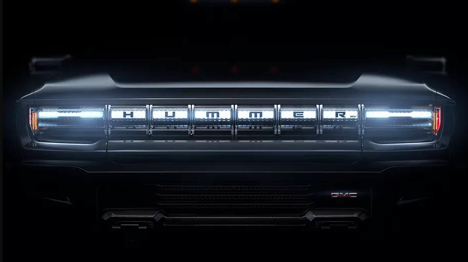 GMC Hummer EV front end face teaser