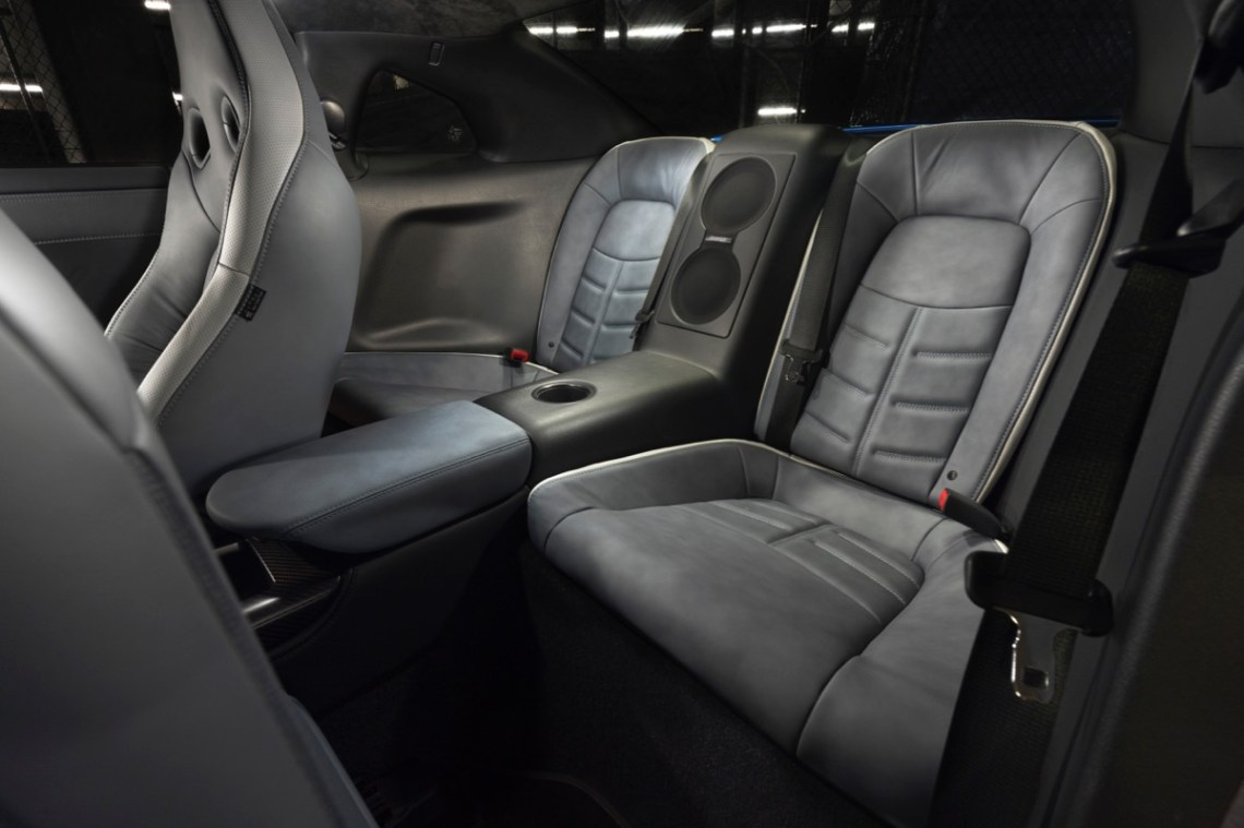 Nissan GT-R 50th back seat space leg room
