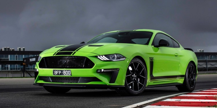 Ford Mustang R-Spec australia front track